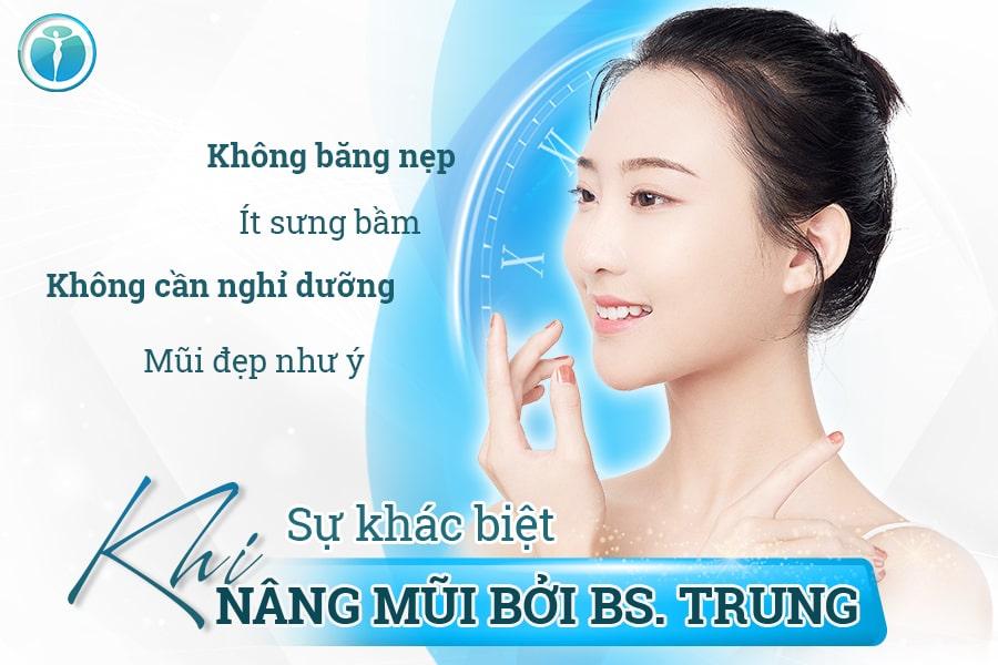 Sự Khác Biệt Khi Nâng Mũi Bởi Bs. Trung Min